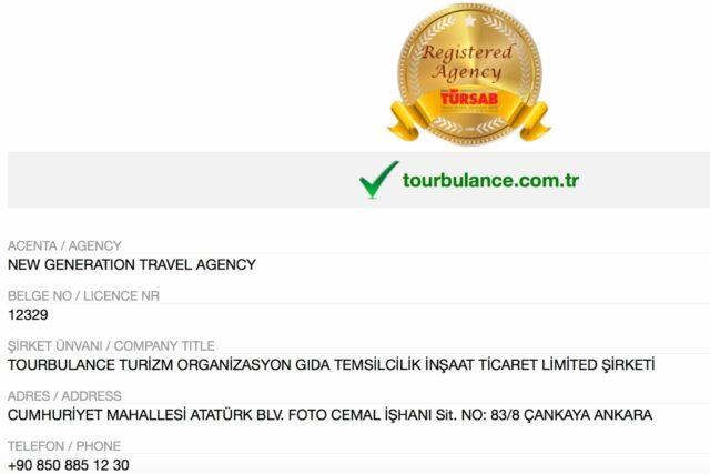 Tourbulance Kurumları Şirket Bilgileri